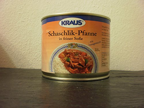 Schaschlik-Pfanne in feiner Soße vom Metzger keine Industrieware Konserven