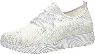 Alaso Tennis en Mesh à Enfiler Femme, Été Automne Chaussures Plates Souple Baskets Comfort Tissu Décontracté Sportswear Sn...