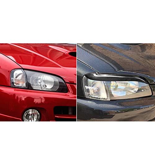 Bestmotoring Carbon Fiber Headlight Eyebrows Eye Lid Sticker for Toyota Starlet Glanza EP91 1996-1999