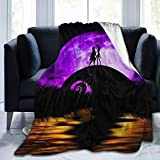 The Nightmare Before Christmas Swaddle Blanket Ultra Soft Throw Blanket Flannel Fleece,Soft Fuzzy Blankets Plush Sheet, All Season Flannel Holiday Blanket for Baby Bed Couch Living Room