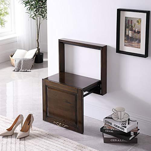 HDHXDS Change Shoe Bench Wand-Klappstühle Invisible Wall Hanging Chair Verborgener Wandhocker zum Aufhängen Doorway Household Entrance (Farbe : B, größe : 50.8 * 34.8 * 70.2CM)