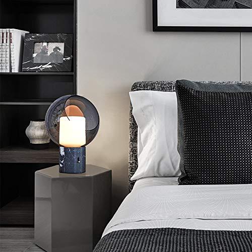Scra AC Personalidad creativa dormitorio mesita de noche base de mármol LED cubierta de vidrio lámpara de escritorio de moda hogar sala de estar hotel club decoración luz 28 x 40 cm