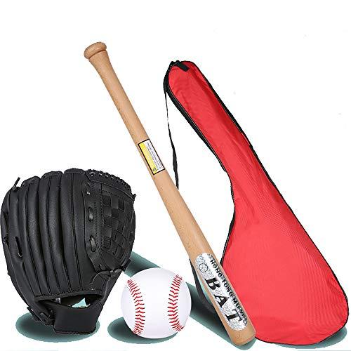 IDE Con Kinder Mixed 25' Baseball Set, Baseball Set, Holz-Schläger, Ball & Baseballhandschuh, Alter BallLittle Liga Set Junior Baseball Kit Multicolor,Elmbat2