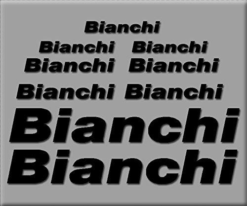 Ecoshirt L6-2ITM-MG3T Pegatinas Bianchi R241 Vinilo Adesivi Decal Aufkleber Клей MTB Stickers Bike, Negro