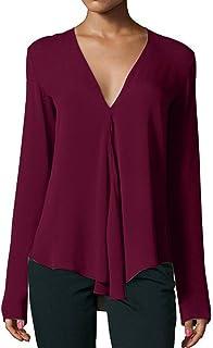 779ac1a9ca89 Amazon.es: camisas color vino - L / Mujer: Ropa
