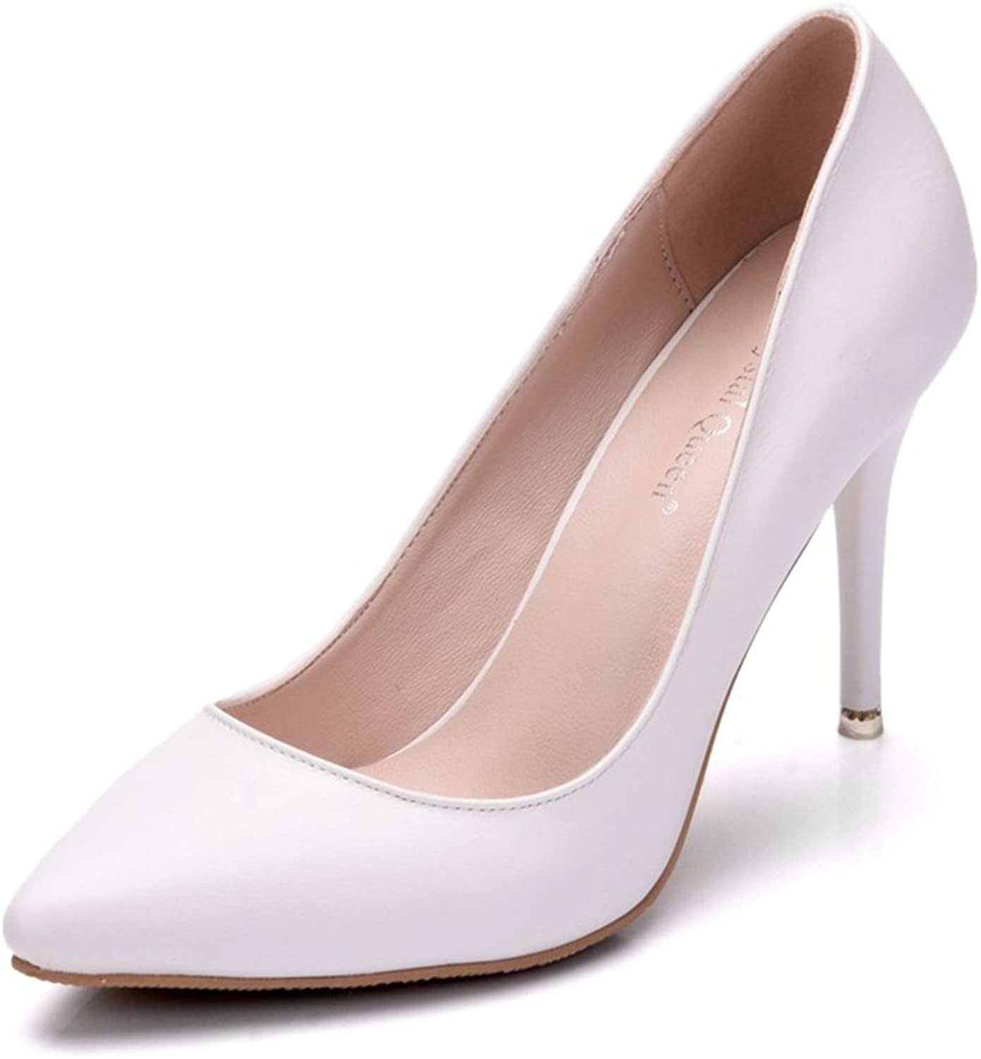 TUYPSHOES Women's Comfortable Elegant High Cushioned Office Low Heels Pointy Close Toe Stiletto Pumps shoes