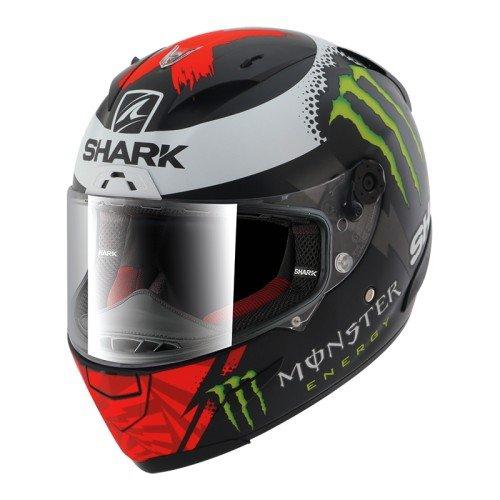 Shark Casco de moto RACE-R PRO LORENZO MONSTER MAT KRW, Negro/Rojo/Blanco, S