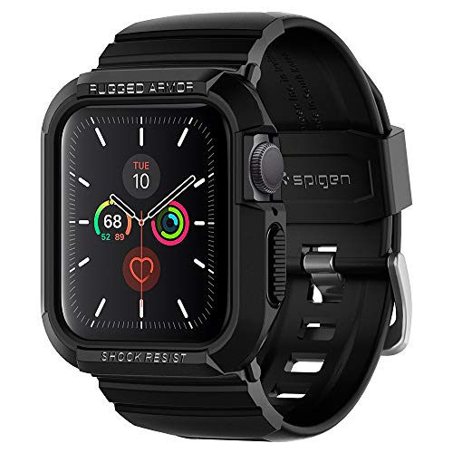 Spigen Rugged Armor Pro Designed for Apple Watch Case 40mm Series 5 / Series 4 - Black