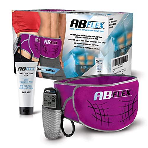 ABFLEX Cintura addominale per muscoli addominali snelli e tonici - Nessun cuscinetto di ricambio mai - Comodo telecomando per regolazioni facili e veloci - per risultati rapidi