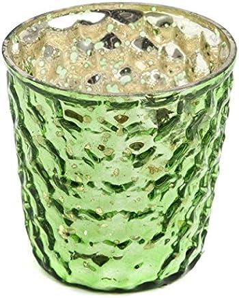 Effetto Vintage 7 cm Colore: Carbone Confezione da 48 Insideretail-Porta lumini con Bolle in Vetro
