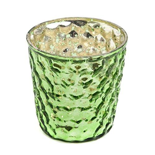 Insideretail Wedding Teal Ight Holders, Vetro, Green, 7x 7x 7cm, 24unità