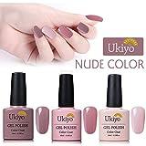Gel de uñas Set 3pcs Soak Off Gel UV Esmalte de Uñas por ukiyo