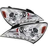 Carpartsinnovate For Hyundai 10-12 Genesis Coupe Clear LED DRL Projector Headlights Left+Right