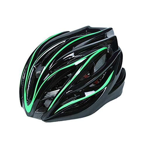 Huai1988 Verstellbarer Fahrradhelm, Adult Cycling Fahrradhelm Urban Fahrradhelm mit Abnehmbarem Visor Fahrradhelm für Unisex im Freien Mountain Road Cycling Ride Kopfschutz Hut Bike Helmet (Grün)