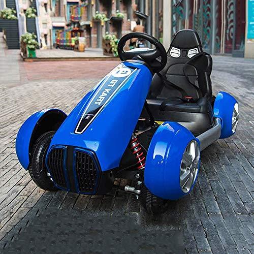 Tritow Neueste Große Einzelsitze Spielzeugauto Mit 2 Motoren 12 V Batterie Kinder Elektrische Fahrt Sitzen Remote Go Kart Control Auto Bluetooth Verbindung Kinder Geschenk (Color : Blue)