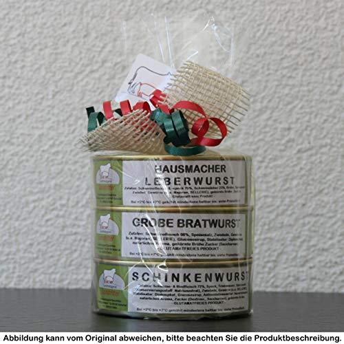 "Landmetzgerei Sandritter, Präsentturm ""Unsere Besten 200g"", Präsentkorb, Wurstgeschenk, Geschenkidee"
