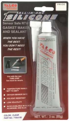 Valco Cincinnati 71105 Clear All-in-One Silicone with Nozzle - 3 oz. Tube