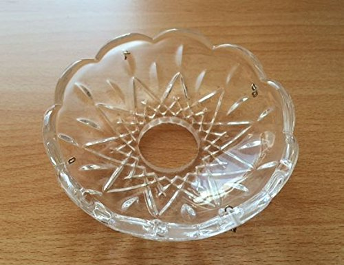 Lampenschirm, Kristall Teller, Schale 7931 Arizona, Glas, Ersatzglas, Schirm, Ersatzschirm, Lampenglas für einen Kronleuchter, Lüster, Kristallleuchte,Pendellampe, Tischlampe