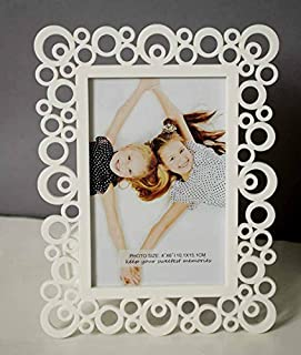 Painting Mantra & Art Street Decoralicious White Designer Circular Motif Photo Frame For Home Dã©Cor