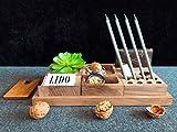 Hochwertiger Schreibtisch-Organizer aus Walnuss-Holz Schreibtisch-Ordnungssystem für Büro &...