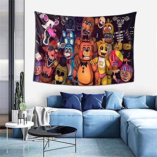 Tapiz de anime Fnaf para colgar en la pared, decoración de pared de apartamento, dormitorio, decoración de pared para sala de estar, dormitorio