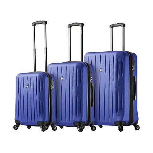 Review Of Mia Toro Italy Fabbri Hardside Spinner Luggage 3pc Set, Blue, One Size