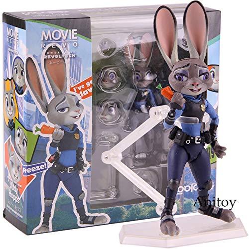 Yvonnezhang Zootopia Judy Hopps Figura Acción PVC Modelo de colección de Juguetes