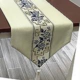 QDTD Mantel de mesa para cocina, hogar, mesa, comedor, fiesta, decoración de vacaciones (tamaño: 33 x 180 cm)