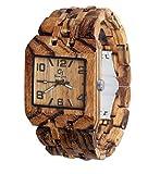 Men's Wood Watch- Wooden Wrist Watches for Men - Wood Custom Watch - Wood Craft - Wood Art - Wood Watch Engraving - Personalized Wooden Watch- Omega III Zebra Wood