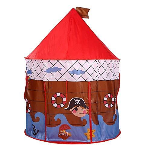 LKK-KK niños juegan Carpa Infantil Mar Beach Holiday Tent Estilo náutico Juego Castillo Juego Carpa Plegable Rojo Lindo Pop Up Grande Playhouse Teepee Juguetes for niñas/niños niños
