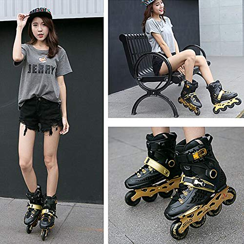 XIUWOUG Skating Shoes Roller Blades Adult Women Men 36-44 Sports Roller Blades Outdoor & Indoor, Comfortable Inline Skates Shoes,43