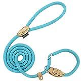 Grand Line Correa de Perro Nylon Cuerda de Entrenamiento Ajustable Reflectantes para Perros Pequeños, Medianos, Grandes y Extra - 1.0cm de Diámetro x 150cm de Largo(Azul)