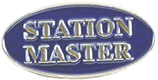 Mainly Metal - Spilla in Metallo smaltato, Motivo: Master Person in Carica, Treno a Vapore