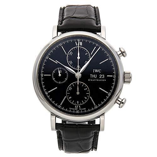 [アイダブリューシー]IWC 腕時計ポートフィノ・クロノグラフ SSx革ベルト 黒  IW391008 メンズ [メーカー保証付 ] [並行輸入品]
