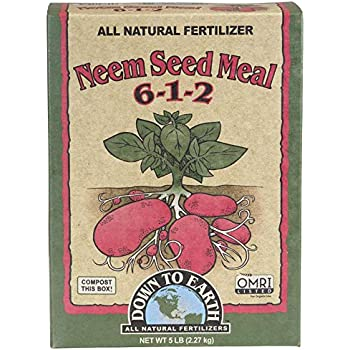 Down to Earth Organic Neem Seed Meal Fertilizer Mix 6-1-2, 5 lb