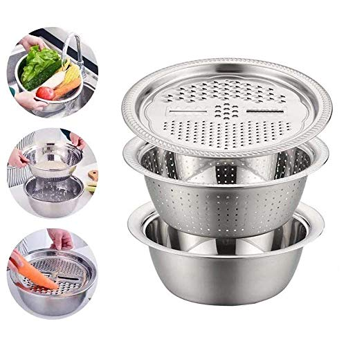 3 in 1 Multifunctional Stainless Steel Basin Set, 3 in 1 Kitchen...