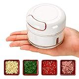IVSUN Mini Garlic Chopper Manual Food Chopper - Hand Pull Food Processor and Food cutter, Garlic...