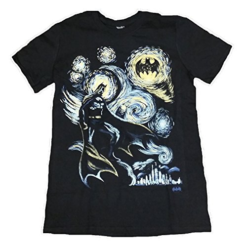 DC Comics Batman Vincent Van Gogh Graphic T-Shirt (Extra-Large)