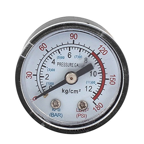 1/8BSP Barómetro de compresor de aire de diámetro de rosca macho 0-12KPa 0-180 psi