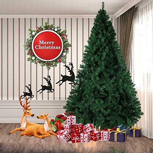 SHATCHI 12ft/3.6m Alaskan Pine Green Artificial Christmas Tree Large Bushy 3134 Tips with Metal Stand Xmas Home Decor 360cm, 12Ft/360CM