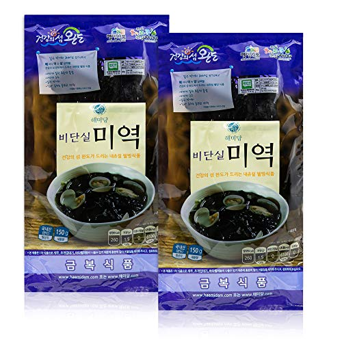 Silky Dried Seaweed from Wando 완도 [ Korean Food ] Sea Superfood, Non GMO Vegan, Perfect for Soup Stocks and Side Dishes [ JRND Foods ] Two 150g Bags