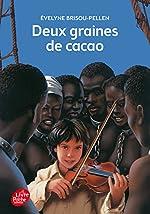Deux graines de cacao d'Evelyne Brisou-Pellen
