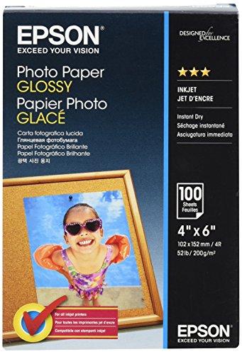 EPSON Foto Papier glänzend 100x150mm 100 Blatt 1er-Pack