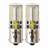 Ba15s 1156 1141 1003 7506 12V Led Bulbs, Pyjr Single Contact Bayonet Base, 5W Warm White 3000K 500Lm, Water-Resistant Led Bulb, for Rv, Trailer, Campe, Boat, Landscape bulbs. (Pack of 2)