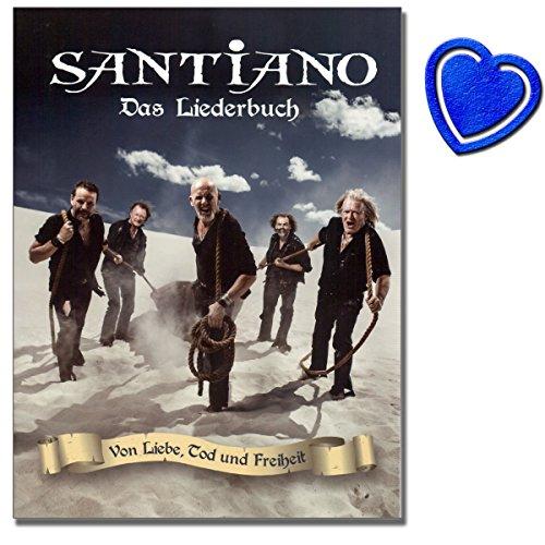 Santiano - Von Liebe, Tod und Freiheit - Songbook für Klavier, Gesang, Gitarre - Santianos drittes Studioalbum - mit bunter herzförmiger Notenklammer