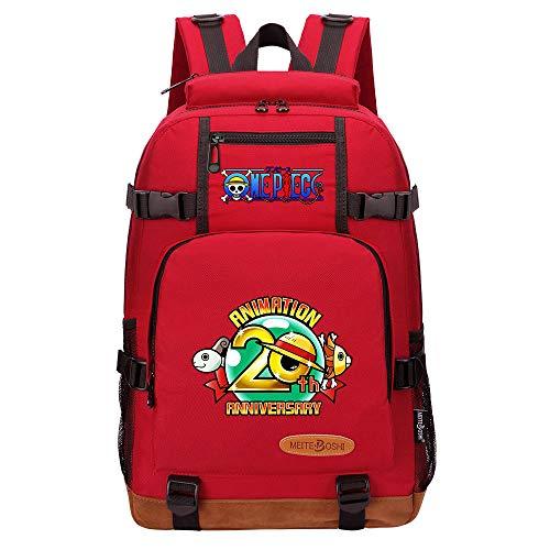 CXWLK Mochila Resistente Al Agua, Ideal para Viajes Y Actividades Al Aire Libre, para Hombre Mujer Gran Capacidad Mochila De Gran Capacidad,One Piece,Red,46cmX29cmX13cm