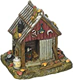 Department 56 Halloween Collections Backwoods Tool Shed Figurine Village Accessory, Multicolor