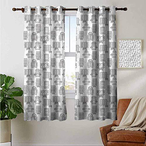 petpany Cortinas persianas de recámara, Paneles de Cortina de fachada de cabaña desgastada para Dormitorio y Cocina, 1 par
