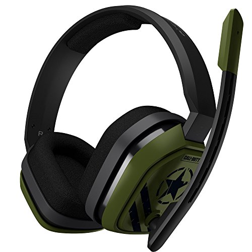 ASTRO A10 Gaming-Headset, Call of Duty Edition, ASTRO Audio, 3,5 mm Klinke, Flip-Stummschaltung, Bequeme Stoff-Ohrpolster, Leichtgewicht, Strapazierfähig & Robust, PC/Mac/Xbox One/PS4 - schwarz/grün
