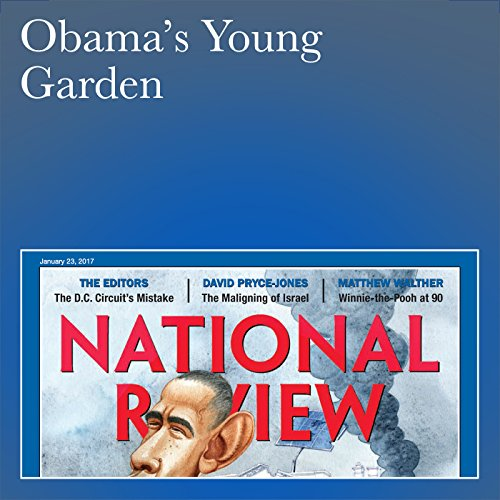 Obama's Young Garden audiobook cover art